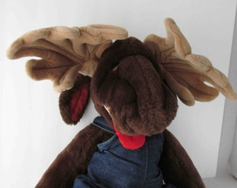 Moogy Moogums Moose Plush Stuffed Toy Ganz Bros. - 1980s - Makers Of Wrinkles The Dog