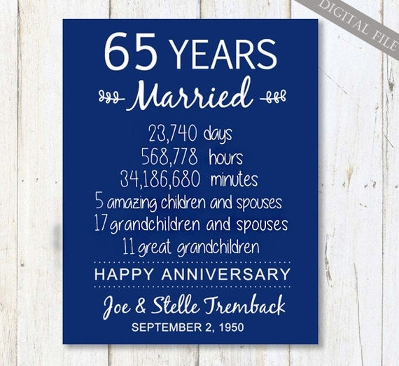 65th wedding anniversary gift for parents 65 years wedding With 65th wedding anniversary gifts