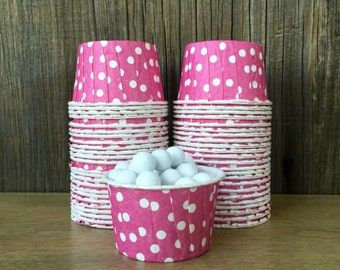 48 Raspberry Pink Candy Cups--Pink Nut Cups-- Wedding, Birthday, Pink Baby Shower Supplies--Mini Cupcake--Fuchsia Candy Cups
