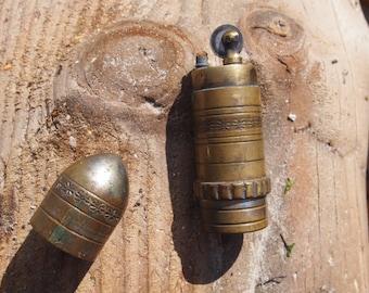 Vintage metal bullet cigarette lighter