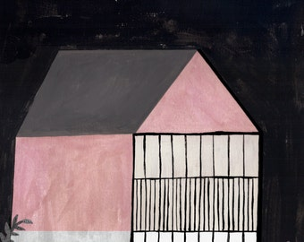 pink house (III) by Ana Frois . digital print