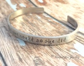 """Stainless Steel ~ 1/4"""" Custom Hand Stamped ~ Cuff Bracelet ~ Personalized ~ Quote ~ Inspirational ~ Affirmation Jewelry ~ HarperLeeJewlery"""