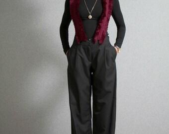 On Sale, Black pants, classic pants, pants side pockets, loose pants, high waist pants, oversized pants, pants with additional suspenders