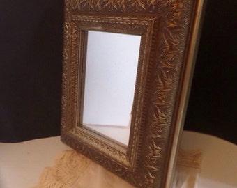 Vintage Ornate Mirror Upcycled Frame