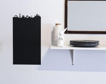 Paris adhesive chalkboard vinyle Paris skyline Eiffel Tower Notre Dame Triumphal arch Obelisk France customizable