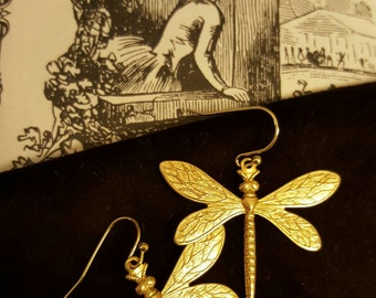 Victorian Dragonfly Earrings