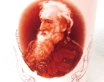 Unusual Antique In Memoriam Beaker Commemorating William Booth, First General and Founder of the Salvation Army, Historical Piece, Death
