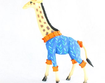 "Party Animal ""Albert"" The Giraffe - painted carnival, circus, and birthday decor"