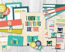 LDS Primary 2016 Theme Printables Kit - I Know the Scriptures are True - presidency organizer - sharing time