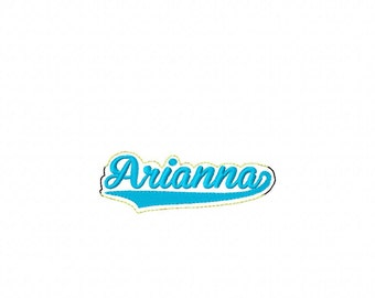Arianna -  Name Headband Slip On  - DIGITAL Embroidery DESIGN