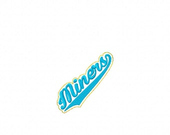 Miners - Team Headband Slip On - DIGITAL Embroidery DESIGN