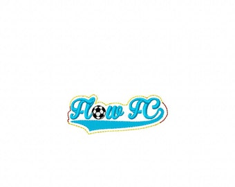 Flow FC Soccer -  Team Headband Slip On - DIGITAL Embroidery DESIGN