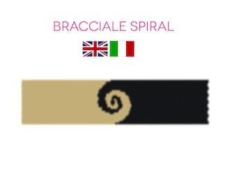 Swirls bracelet PDF PATTERN