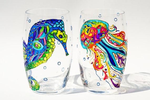 Beach Themed Drinking Glasses