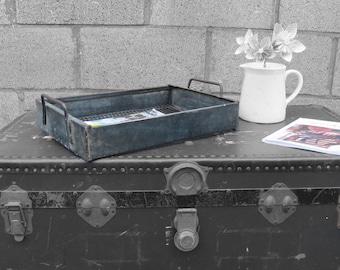 1950s Old Workshop Industrial Metal Racks Trays - Great Quirky Storage