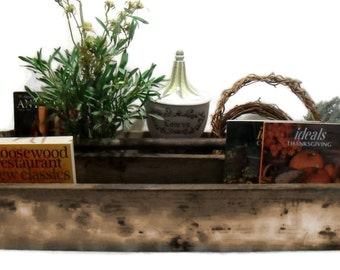 Early Mid Century Carpenters Tool Carrier Wood Box