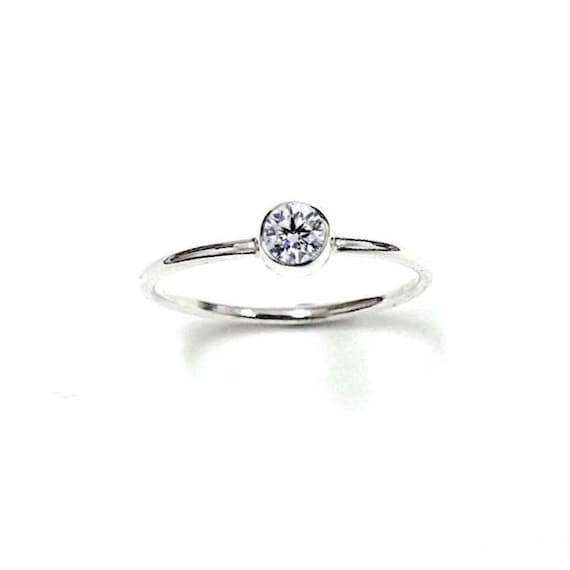 promise ring 14k white gold best friends by nautigold