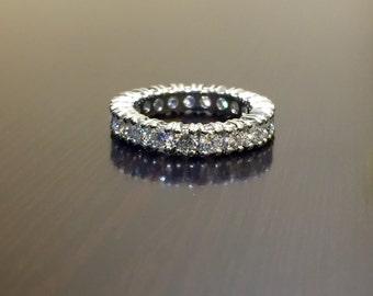 Platinum Eternity Diamond Engagement Band - Art Deco Platinum Diamond Wedding Band - Platinum Diamond Eternity Band - Diamond Platinum Band
