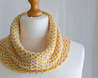 This cowl is my ' Sunny Little Love Hearts Cowl', a lovely snug and warm cowl handknit with a pure, soft merino wool