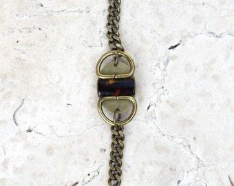 tortoise shell bracelet // free shipping