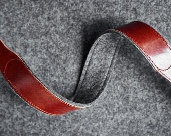 Leather Felt Camera DSLR Mirrorless Canon Nikon Fujifilm Sony Strap Hand-made