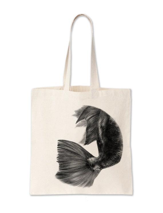 sac a main dessin poisson unique et original par folkparis. Black Bedroom Furniture Sets. Home Design Ideas