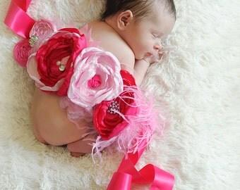 Pink and Hot Pink Maternity/Newborn Sash