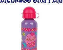 Stephen Joseph Toddler Cup Cake  Stainless Steel Water Bottle Personalized INCLUDES SHIPPING
