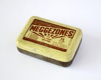 1950s Meggezones Vintage Tin