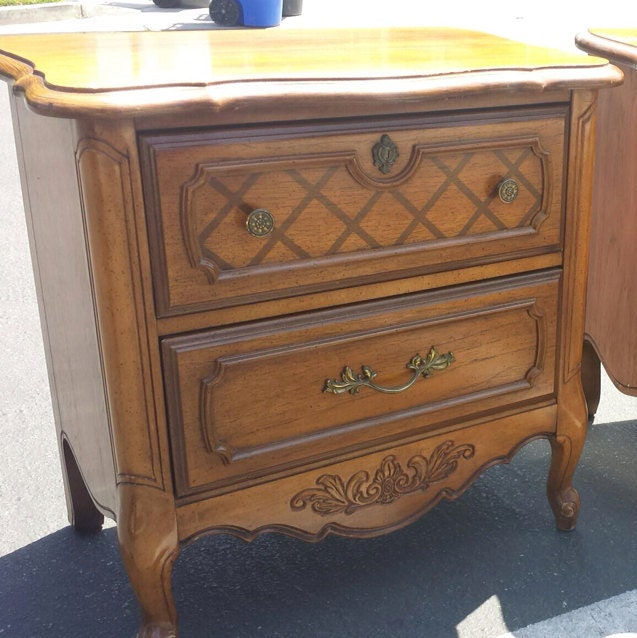 Paris Nightstand: Vintage French Provincial Nightstand By Stanley One Left