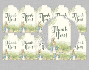 Peter Rabbit Thank You Tags/Gift Tags INSTANT DOWNLOAD