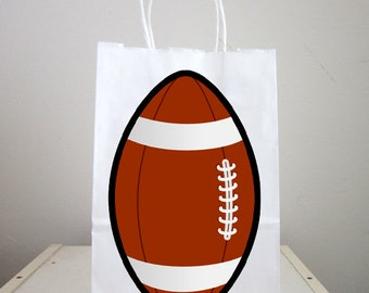 Football Goody Bags, Football Favor Bags, Football Gift Bags, Football Goodie Bags