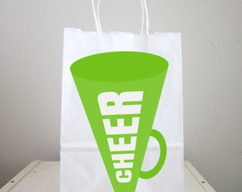 Cheerleader Megaphone Goody Bags, Cheerleader Favor Bags, Cheerleader Gift Bags, Cheerleading Goody Bags