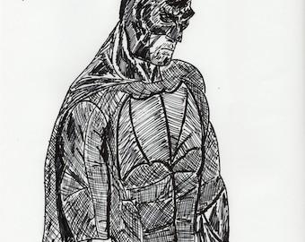 """Batman, """"Batman Vs Superman"""", poster. a4"""