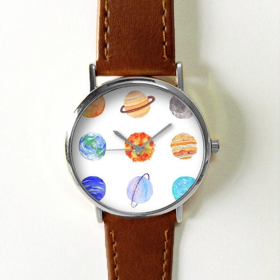 Planets Watch Solar System Watches for Men Women Leather