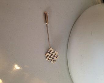Vintage Ola Gorie Sterling Silver Stick Pin Brooch