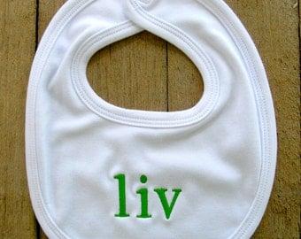 Monogrammed Small Baby Bib