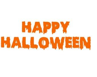 Happy Halloween Vinyl, Happy Halloween Decal,Fall Decal,Halloween Decor,Halloween Sticker,Fall Door Decor,Halloween Decoration,Pumpkin Decor