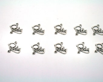 Party Charms,10 pcs, Silver Party Charms