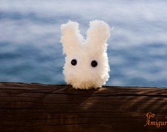 White totoro - amigurumi white totoro - doll white totoro - crochet white totoro - plush white totoro - handmade white totoro  little totoro