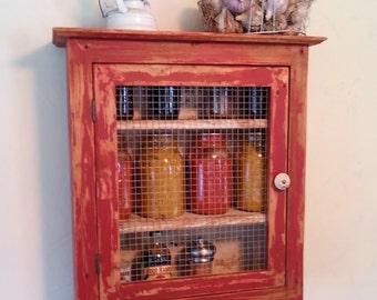 Farmhouse Pallet Wood Chalk Paint Cabinet Handmade