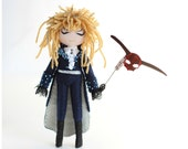 Jareth the Goblin King, Labyrinth doll. The ball scene outfit with goblin mask.