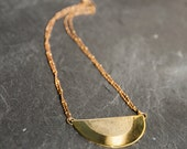 "Necklace ""Sol"" handmade in golden brass and goldfilled"