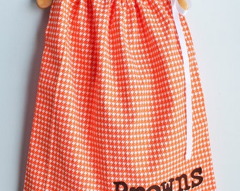 Cleveland Browns Girl's Dress - Cleveland Browns Toddler Dress - Cleveland Browns Game Day Dress