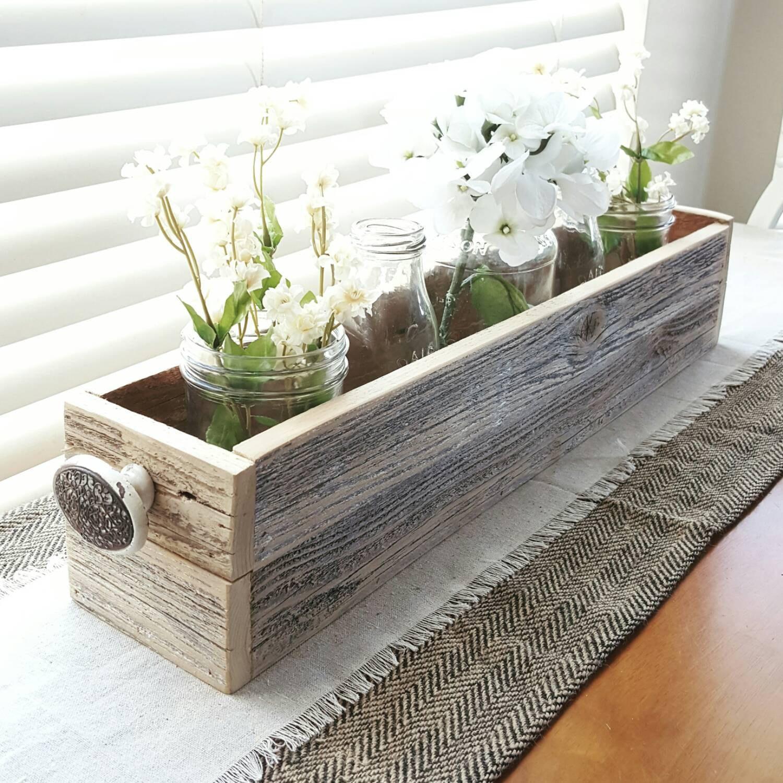 Planter Box Barnwood Box Coffee Table Tray Reclaimed