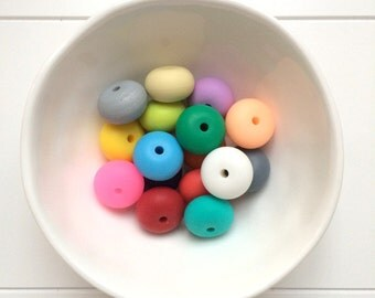 Silicone Donut / Abacus Beads 5 x 25mm
