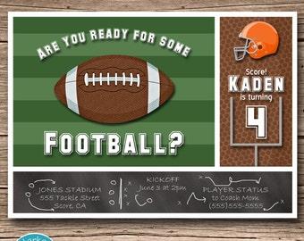 Football Invitation - Printable Birthday Party Invite - Sports - DIY - Digital - Personalized - Choose Helmet Color - Boys