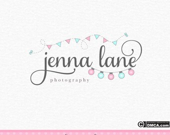 Premade Fairy Lights Logo, Event Logo, Bunting Logo, Photography Logo, Fairylights Logo, Business Logo, Branding Logo, Logo Design, Lighting
