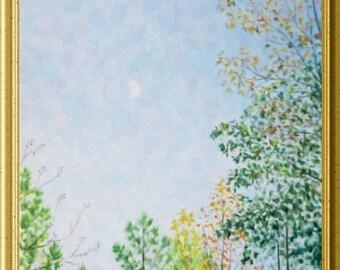 """11x14"""" 'Autumn Moon'  oil painting"""