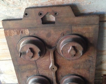 Antique wood foundry mold